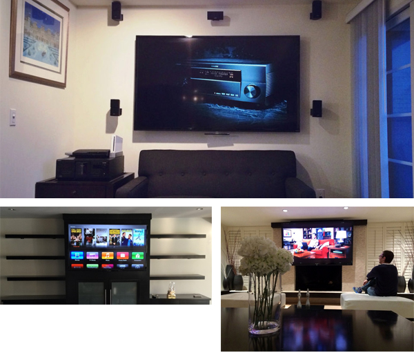 Completed TV Mounting Projects in Los Angeles